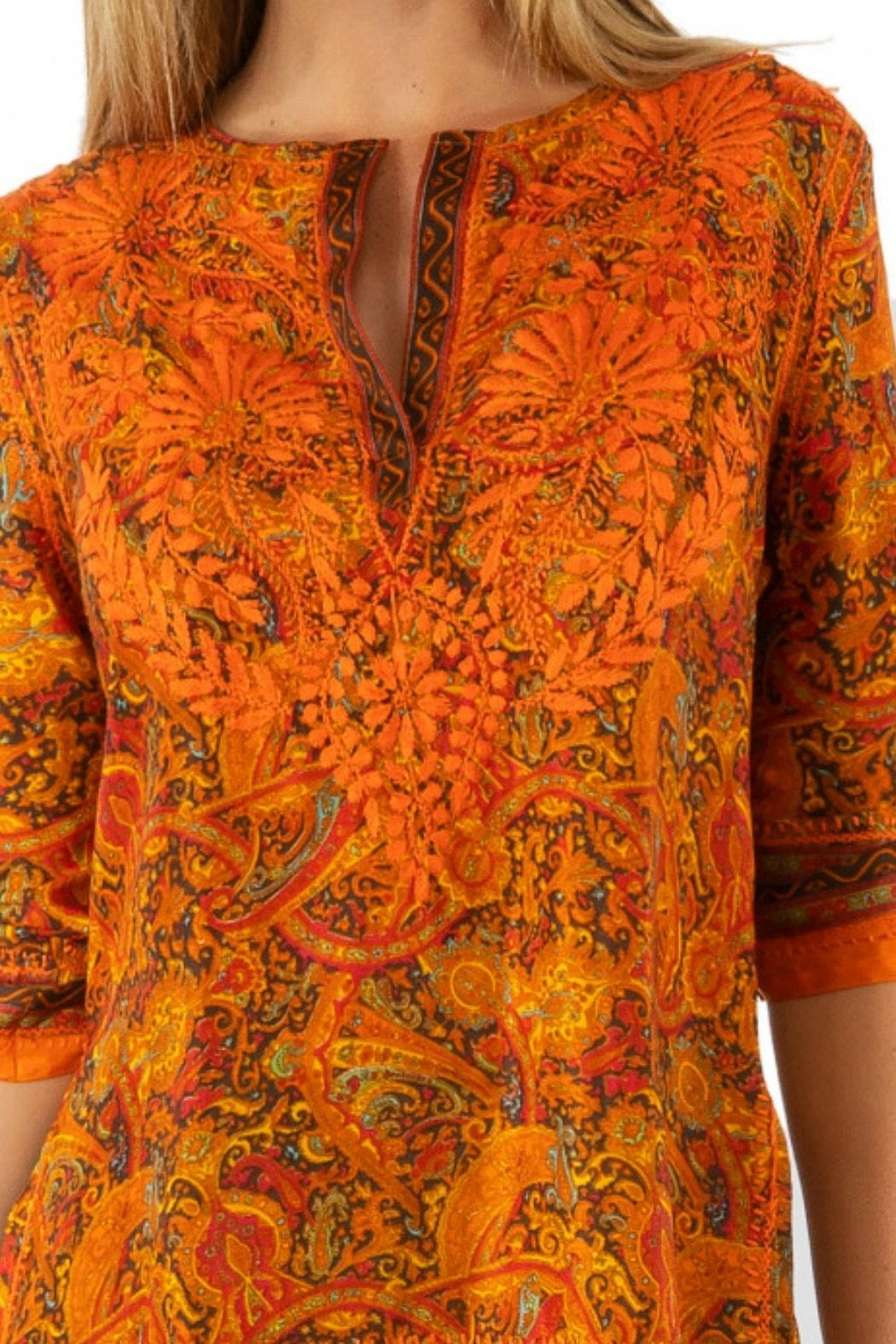 Gretchen Scott Silk Embroidered Tunic - Side Cropped Image