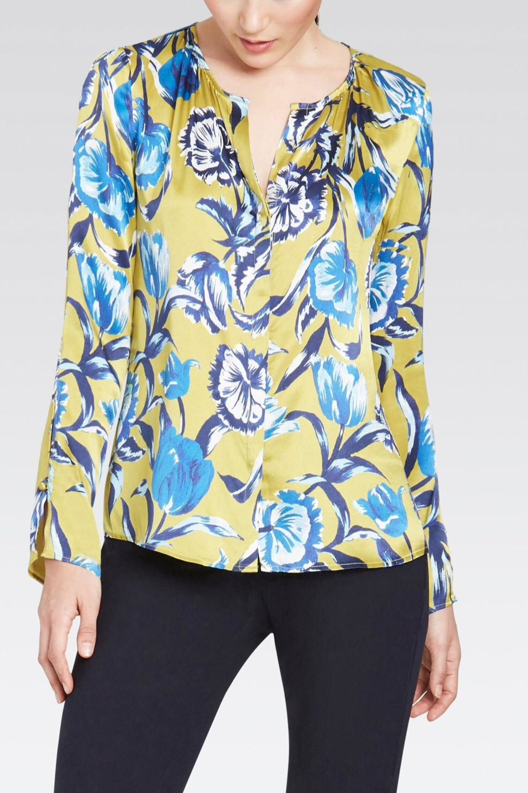 ff5327241347a Ecru Silk Floral Blouse from Baltimore by FREESIA — Shoptiques