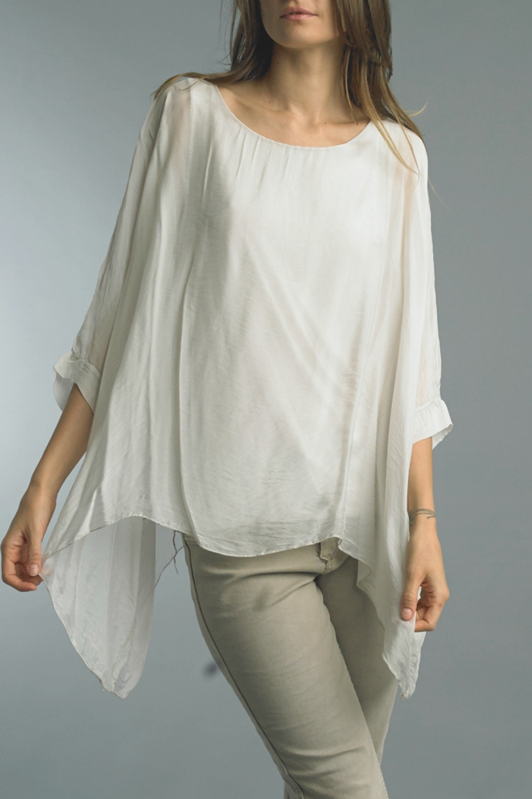 Tempo Paris Silk Flowy Top - Front Cropped Image