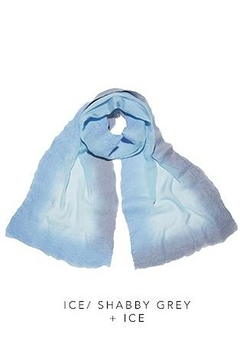Christa Louise Ice Grey Silk Frame Scarf - Alternate List Image