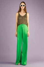 BEULAH STYLE Silk Green Pants - Front cropped
