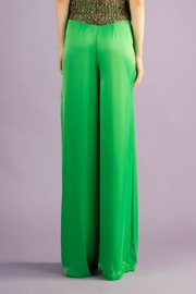BEULAH STYLE Silk Green Pants - Side cropped