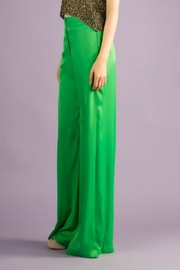 BEULAH STYLE Silk Green Pants - Front full body