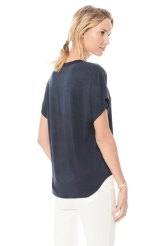 Ecru Silk Knit Woven Dolman Top - Alternate List Image
