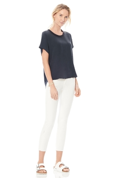 Ecru Silk Knit Woven Dolman Top - Product List Image