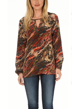 Tolani Silk Marbled Tunic - Product List Image