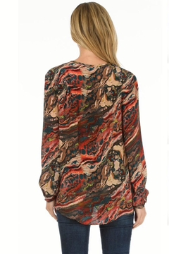 Tolani Silk Marbled Tunic - Alternate List Image
