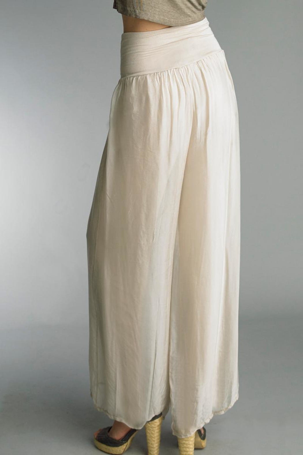 Tempo Paris Silk Palazzo Pant - Side Cropped Image