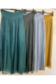 Look Mode Silk Pants with Slit on side - Product Mini Image