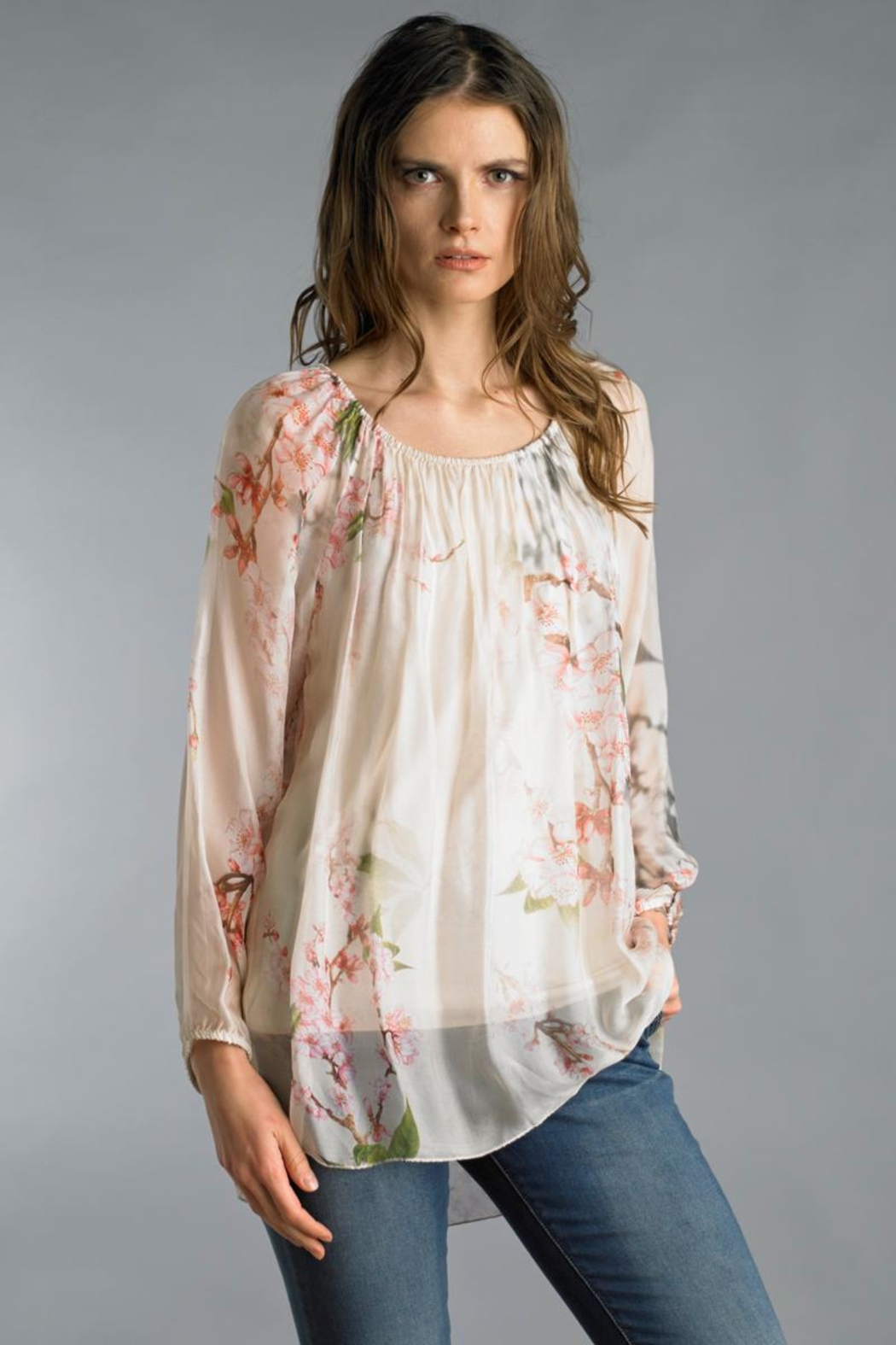e7ca1172a015 Tempo Paris Silk Peasant Blouse from Cambria by New Moon — Shoptiques