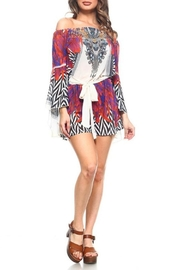 Dazzling Silk Printed Romper - Product Mini Image
