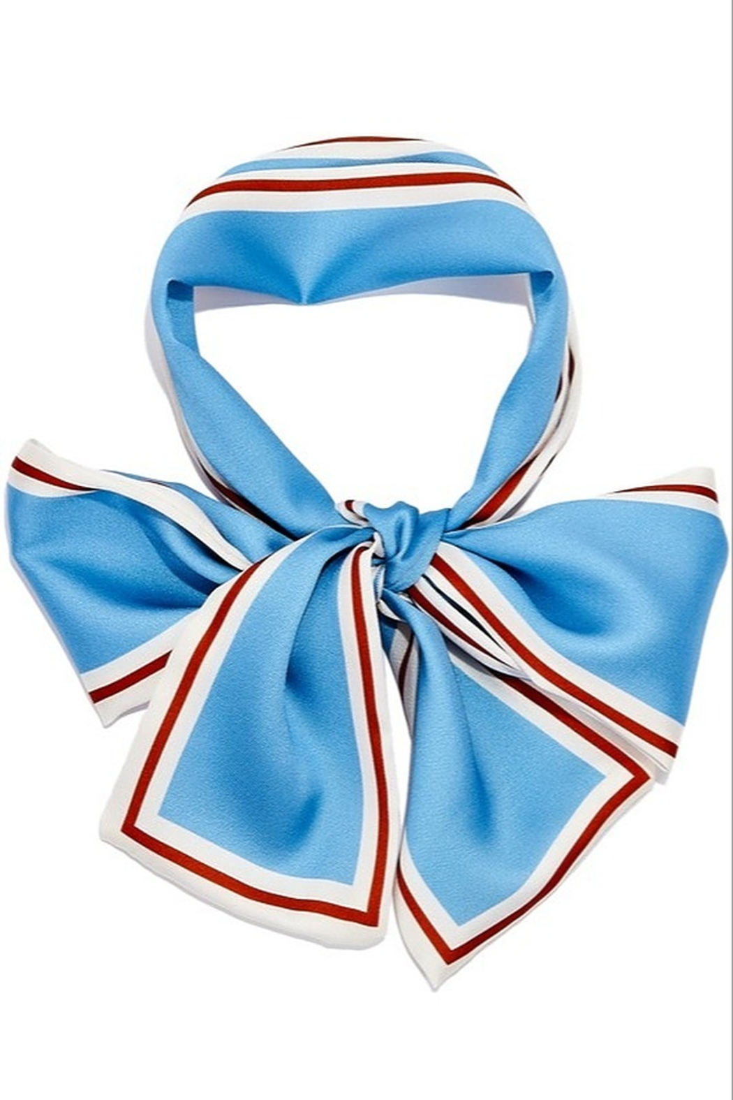 Girly Silk Skinny Hair Scarf - Front Cropped Image