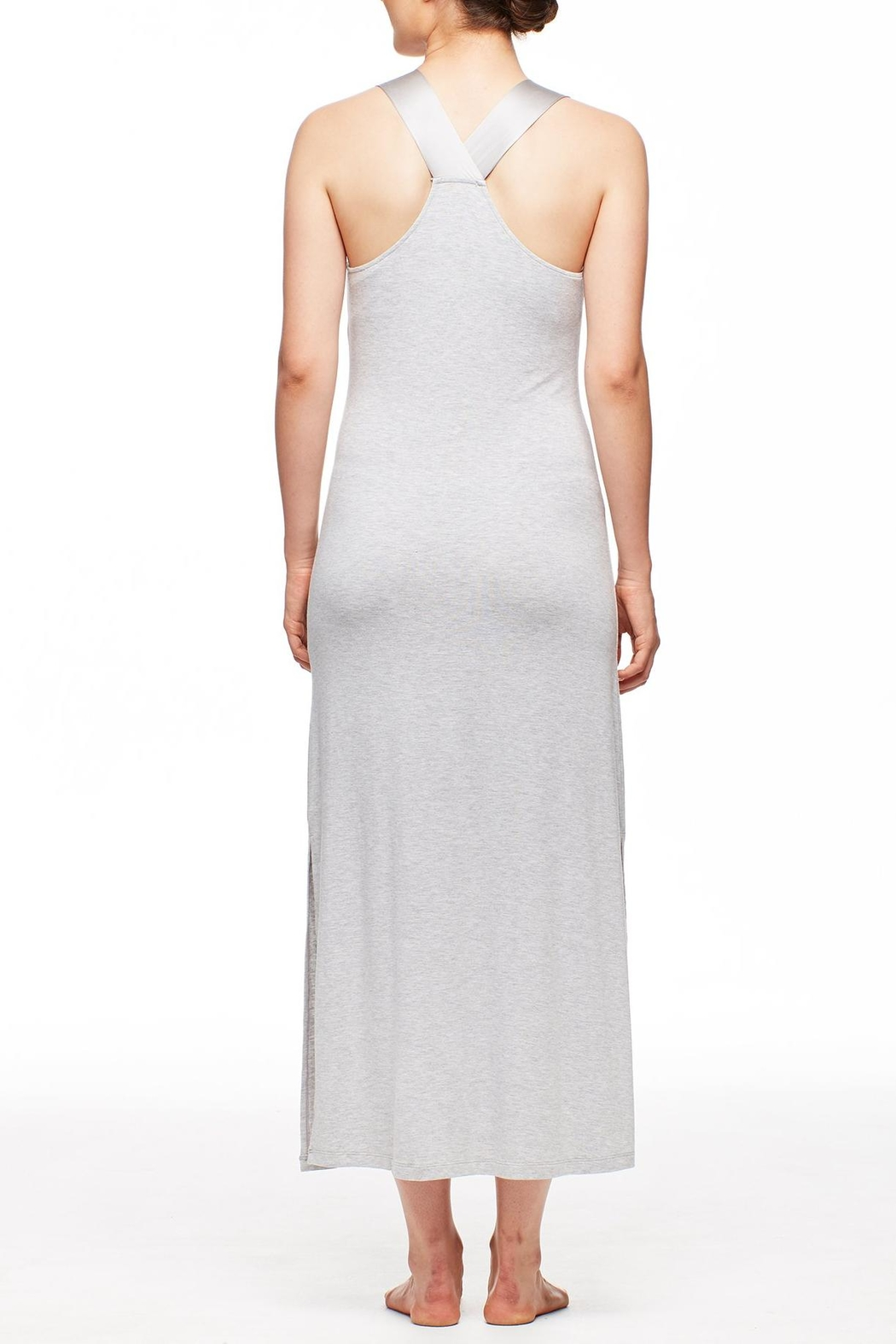 Fleur't Silk Strap Gown - Front Full Image