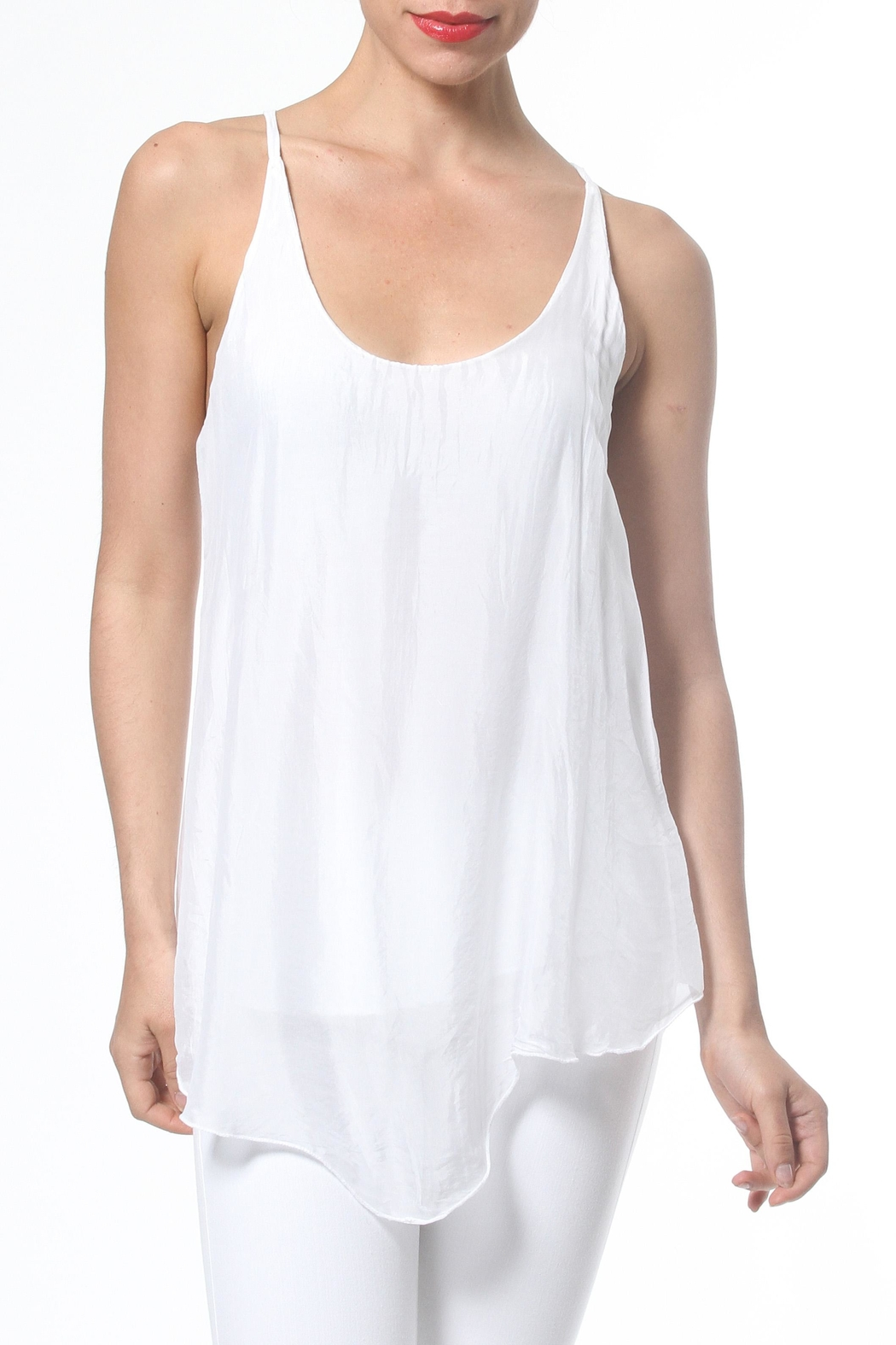 Madonna & Co Silk Tank - Front Cropped Image