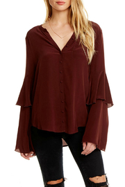 Chaser Silk Tiered Peplum Sleeve Top - Product Mini Image