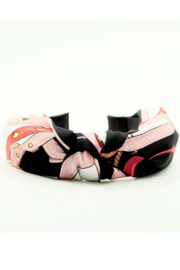 arthur jane claire  Silk Top Knot Headband - Front cropped