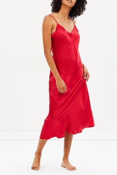 Ginia Silk V-Neck Gown - Product List Image
