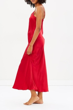 Ginia Silk V-Neck Gown - Alternate List Image