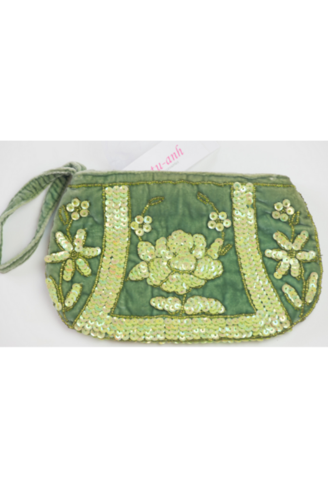 tu-anh Silk Velvet Clutch - Front Cropped Image