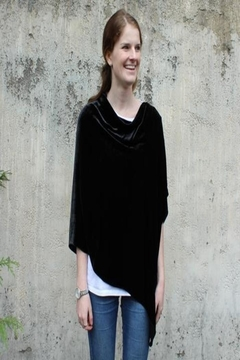 Dana Herbert Silk Velvet Poncho - Alternate List Image