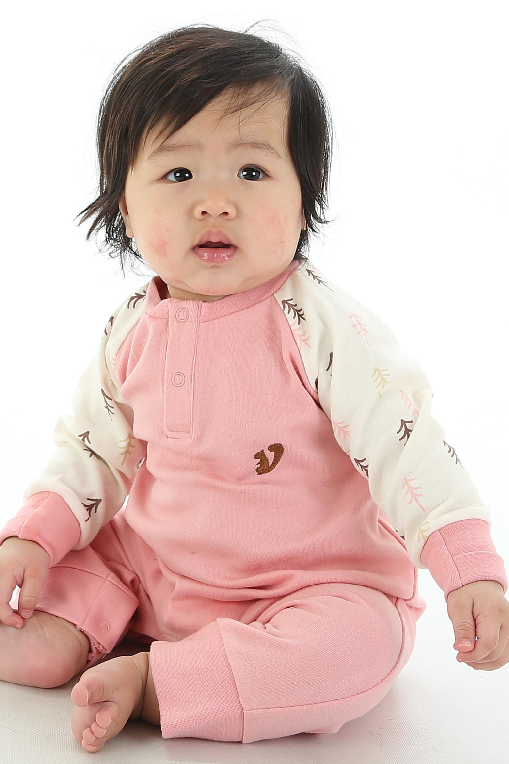 silkberry baby Organic Forest Romper - Main Image