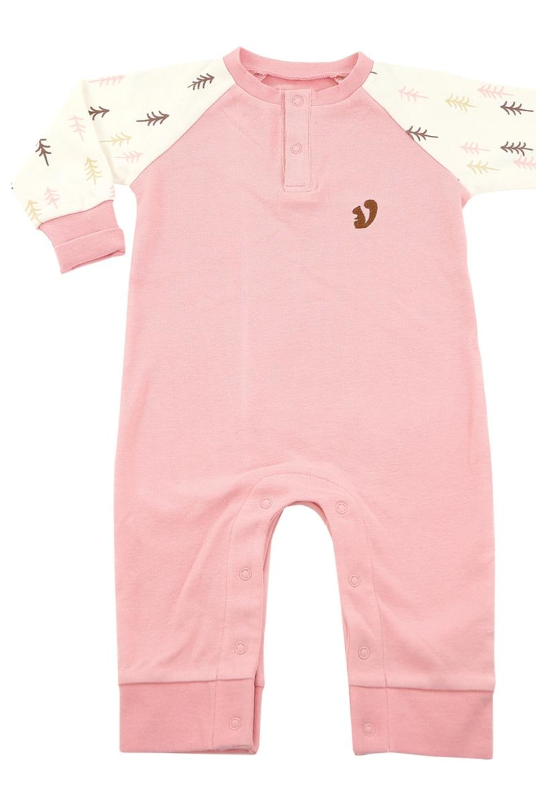 silkberry baby Organic Forest Romper - Back Cropped Image
