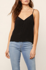 BB Dakota  Silky Black Cami - Front cropped