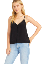 BB Dakota  Silky Black Cami - Side cropped