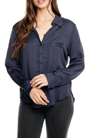 Chaser Silky Button-Down Blouse - Product Mini Image