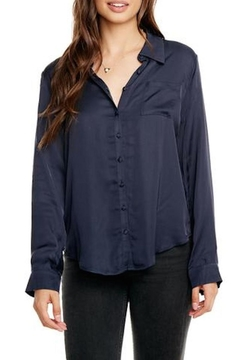 Chaser Silky Button-Down Blouse - Alternate List Image