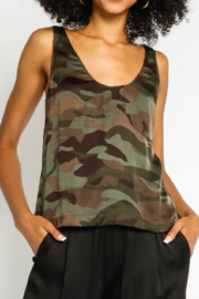 Olivaceous  Silky Camo Tank - Product Mini Image