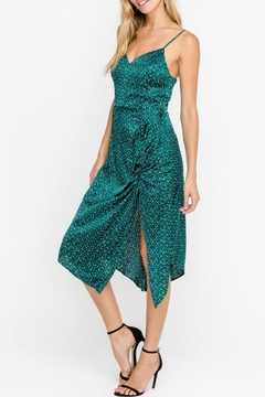 Lush Clothing  Silky Drawstring-Accent Cocktail-Midi-Dress - Product List Image