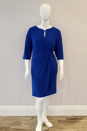 Alex Evenings Silky Knit Shift Dress, Royal - Product Mini Image