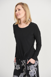 Joseph Ribkoff Silky Knit Top with Tie Front - Product Mini Image