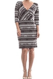 Joseph Ribkoff Silky knit zig zag pattern dress - Product Mini Image