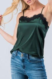 AKAIV Silky Lace Camisole - Front full body