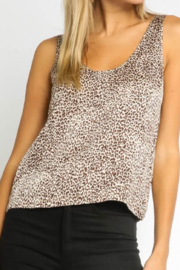Olivaceous  Silky Leopard Tank - Product Mini Image