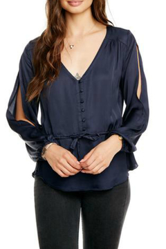 Chaser Silky Peplum Blouson Slv Top - Alternate List Image