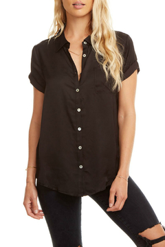 Shoptiques Product: Silky Rolled S/S Button Down Top