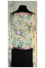KIMBALS Silky Sheer Button Poncho - Front full body