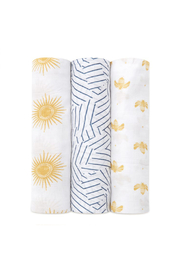 Aden + Anais Silky Soft Swaddle 3 Pack - Golden Sun - Product Mini Image