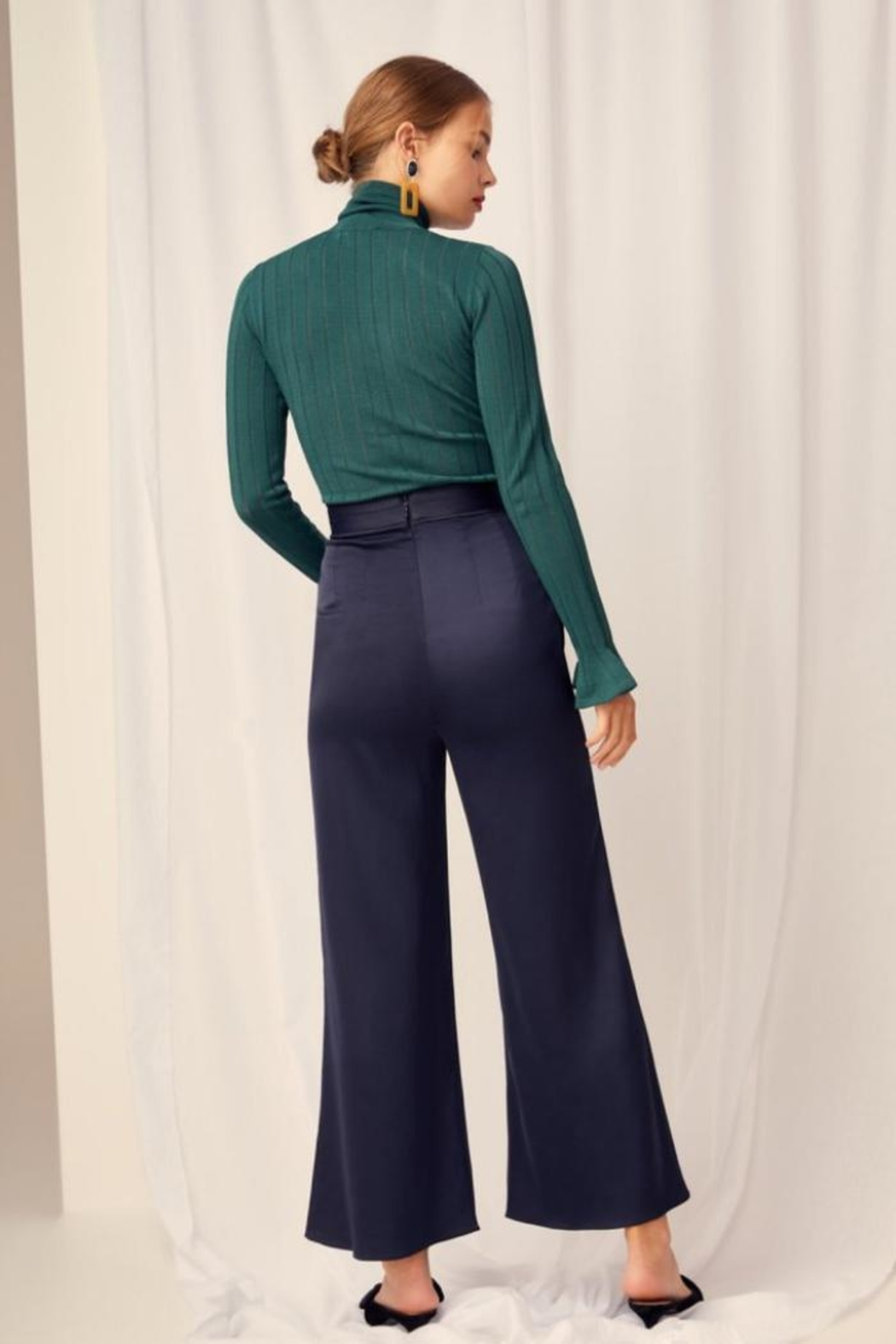 Keepsake Silky Wide-Leg Pant - Side Cropped Image