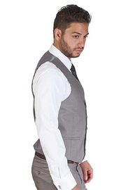 AZM Silver 5 Button Slim Fit Vest - Front full body