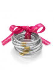 The Birds Nest SILVER ALL WEATHER SERENITY BANGLE - MEDIUM - Front cropped