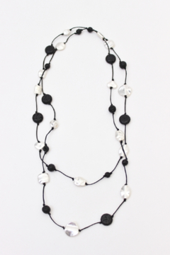 Bali Queen Silver Alloy and Lava Layering Necklace - Alternate List Image