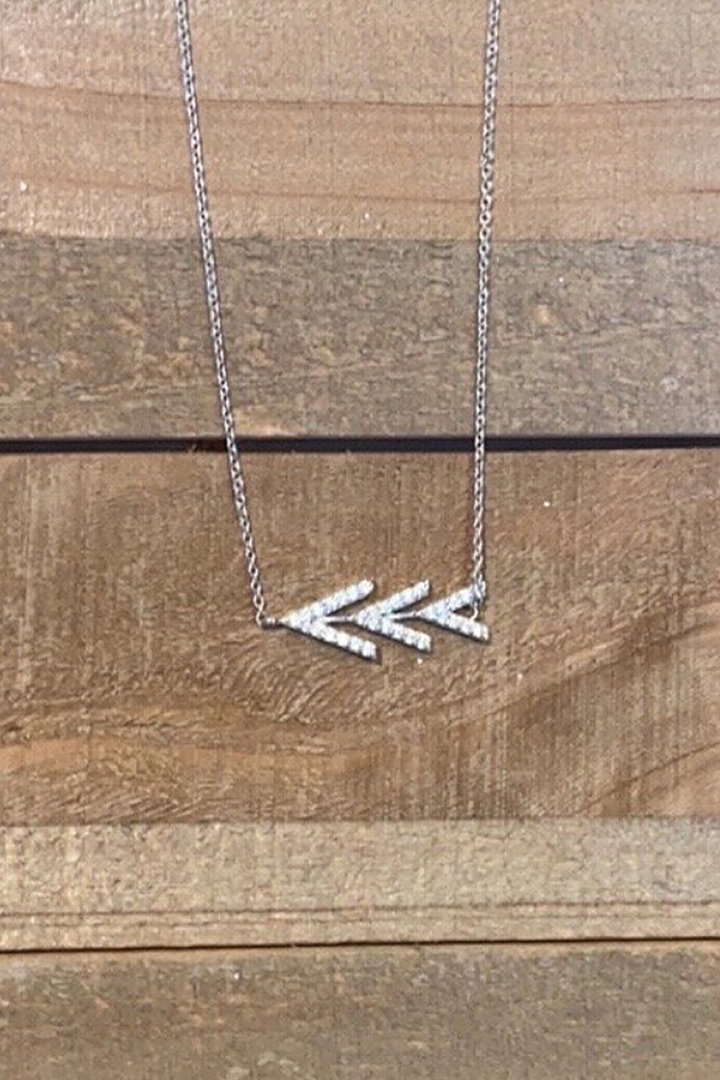 Allie & Chica Silver Arrows Necklace - Main Image
