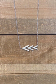 Allie & Chica Silver Arrows Necklace - Product Mini Image