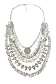 Silver Aztec Necklace  - Front cropped