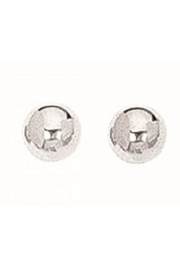 Bling It Around Again Silver Ball Studs - Front cropped