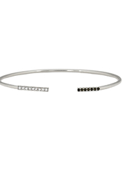 Jaime Nicole Silver Bangle Bracelet - Product Mini Image